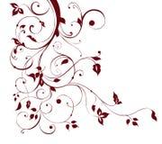 Bloem en wijnstokkenpatroon stock illustratie