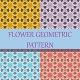 Bloem Geometrisch Patroon Als achtergrond Stock Foto's