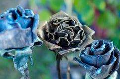 Bloem gesmeed metaal Royalty-vrije Stock Foto's