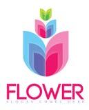 Bloem Logo Concept Stock Afbeeldingen