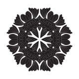Bloem Mandala Doodle Vector Designs vector illustratie