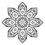 Bloem Mandala Uitstekende decoratieve elementen Stock Foto