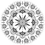 Bloem Mandala Uitstekende decoratieve elementen Oosters patroon, illustratie Islam, Arabisch, Marokkaanse Indiër, Turks Spanje, Royalty-vrije Stock Foto's