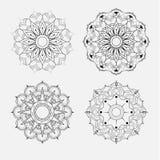Bloem Mandala Uitstekende decoratieve elementen Oosters patroon, v Royalty-vrije Stock Afbeelding