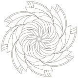 Bloem Mandala voor grappige jonge geitjes vector illustratie