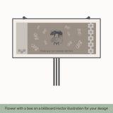 Bloem met bij op een aanplakbord 3 Royalty-vrije Stock Afbeeldingen