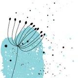 Bloem met inkt vector illustratie