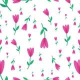 Bloem met roze bloemblaadjespatroon op witte achtergrond stock foto's
