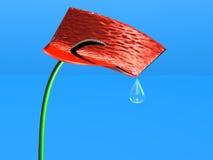 Bloem met waterdalingen Stock Illustratie