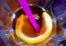 Bloem in mijn drank Stock Afbeeldingen