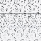 Bloem naadloos patroon Stock Foto