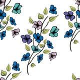 Bloem naadloos vectorpatroon Eindeloze textuur voor textiel vector illustratie