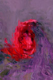 Bloem onder Glas Royalty-vrije Stock Afbeeldingen