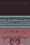 Bloem-ornamenten + strepen Stock Afbeeldingen