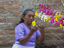 Bloem & Palmfestival in Panchimalco, El Salvador Stock Foto