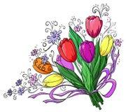 Bloem, tulpen, boeket Stock Afbeeldingen