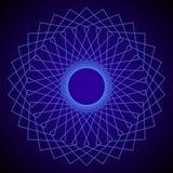 Bloem van het leven Heilige Meetkunde Abstract Geometrisch patroon Vector stock illustratie