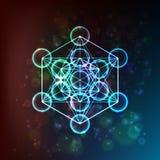 Bloem van het leven Heilige Meetkunde Symbool van Harmonie en Saldo Vector stock illustratie