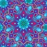 Bloem van het patroon de vectorornament Stock Afbeelding