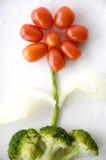 Bloem van veggie wordt gemaakt die Royalty-vrije Stock Foto's