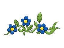 Bloem vectorillustratie Royalty-vrije Stock Foto