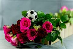 Bloem voor een voetbalventilator, Royalty-vrije Stock Foto