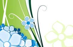 Bloem voor groene achtergrond Stock Afbeeldingen