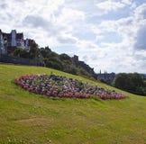 Bloembed in de Tuinen van de Prinsenstraat in Edinburgh stock fotografie