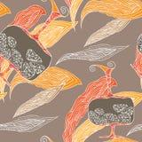 Bloemblaadjes en ewers patroon royalty-vrije illustratie