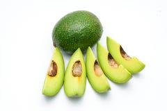 Bloemblaadjes van avocado op een wit Stock Foto's