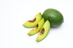 Bloemblaadjes van avocado op een wit Stock Foto