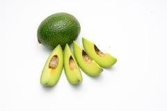 Bloemblaadjes van avocado op een wit Royalty-vrije Stock Afbeeldingen