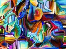 Bloemblaadjes van Kleurenafdeling royalty-vrije illustratie