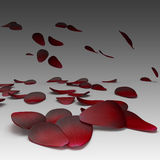 Bloemblaadjes van rood Royalty-vrije Stock Afbeelding