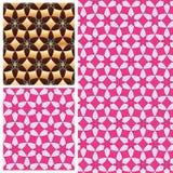 Bloembloemblaadje 6 gouden roze symmetrie naadloos patroon stock illustratie
