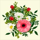 Bloemboeket met roze gerbera royalty-vrije stock afbeelding