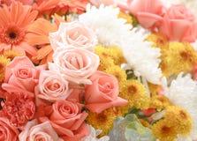 Bloemboeketten, bos van bloemen stock fotografie