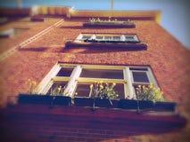 Bloemdozen op huis, Amsterdam, Nederland Stock Afbeeldingen