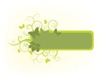 Bloemen aardbanner Vector Illustratie