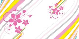 Bloemen abstract ontwerp Royalty-vrije Stock Foto's