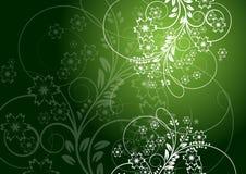 Bloemen abstract ontwerp als achtergrond Royalty-vrije Illustratie