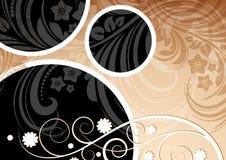 Bloemen abstract ontwerp als achtergrond Stock Illustratie