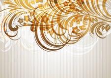 Bloemen abstract ontwerp als achtergrond Vector Illustratie