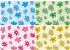 Bloemen abstracte achtergrond Stock Illustratie