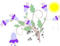 Bloemen abstracte achtergrond Stock Fotografie