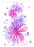 Bloemen abstracte achtergrond Royalty-vrije Stock Afbeeldingen