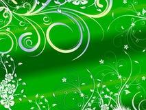 Bloemen abstracte achtergrond in groene kleur stock illustratie