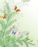 Bloemen abstracte achtergrond. Vector. Stock Afbeelding
