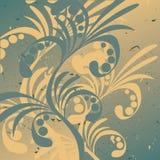Bloemen abstracte achtergrond. Vector. Stock Fotografie