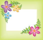 Bloemen abstracte banner Stock Illustratie
